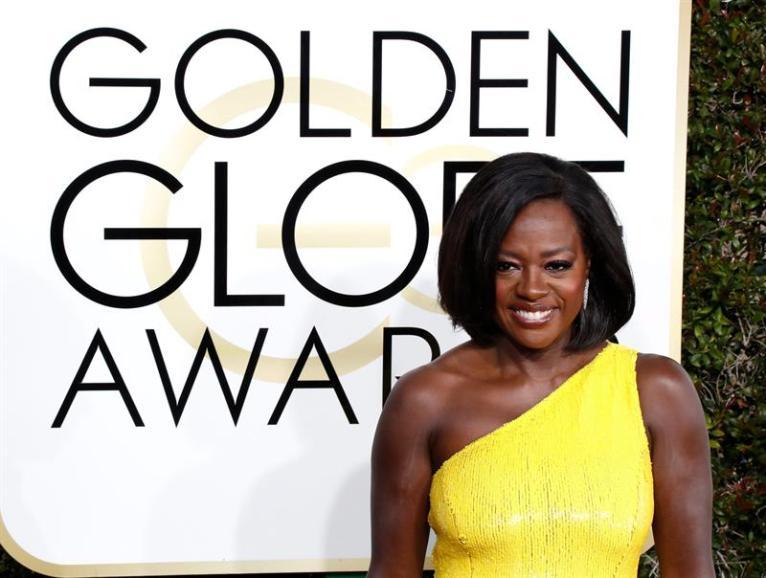 Viola Davis en la ceremonia de los Golden Globes 2017