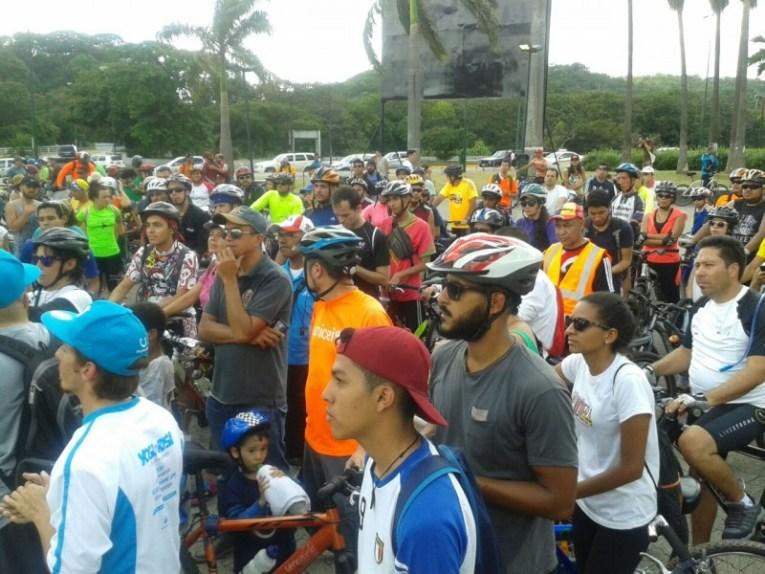 ¡Caracas en bici! fue la actividad que se llevó a cabo este domingo desde Plaza Venezuela