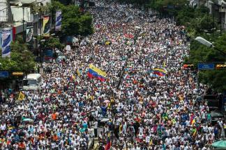 Movilización de la oposición en la avenida Francisco de Miranda / Foto: EFE