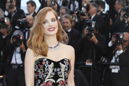 La actriz Jessica Chastain en la alfombra roja del Festival de Cannes