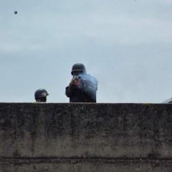 GNB dispara contra la marcha/Foto: Giancalo Corrado