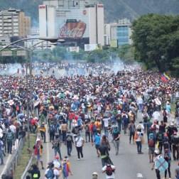 Manifestantes no pudieron ir a la AN/Foto: Giancalo Corrado