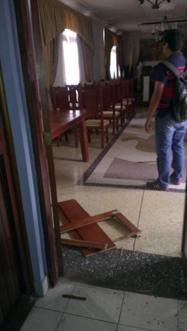 El domingo la GNB atacó la sede de la alcaldía de Campo Elías