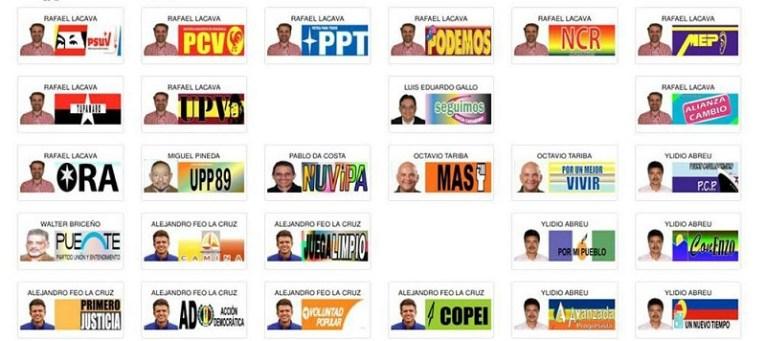 Tarjeta Electoral en Carabobo
