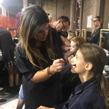 Maquillaje venezolano en la Semana de la Moda de Milán/ Foto: Cortesía