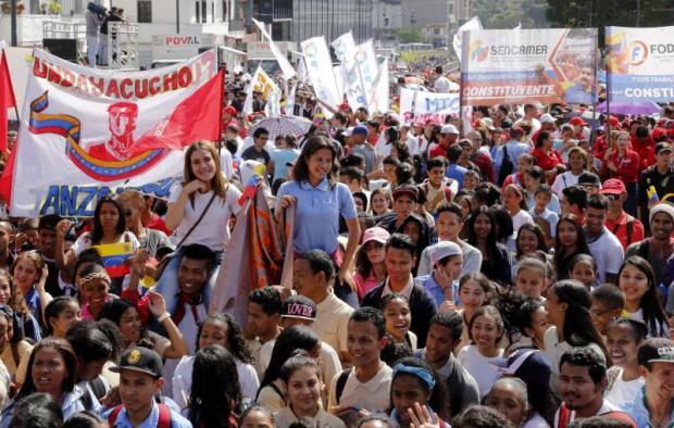 Marcha del chavismo/Foto: AVN