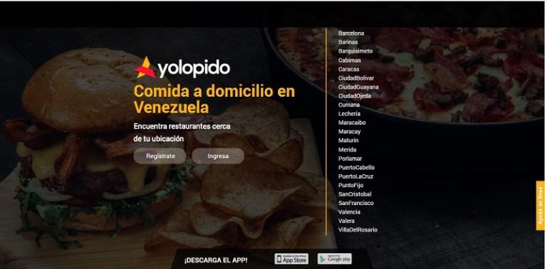 Yolopido.com, que tal como su nombre lo indica, ofrece a los usuarios variedad de establecimientos de comida a los cuales se les puede ordenar en pocos clicks