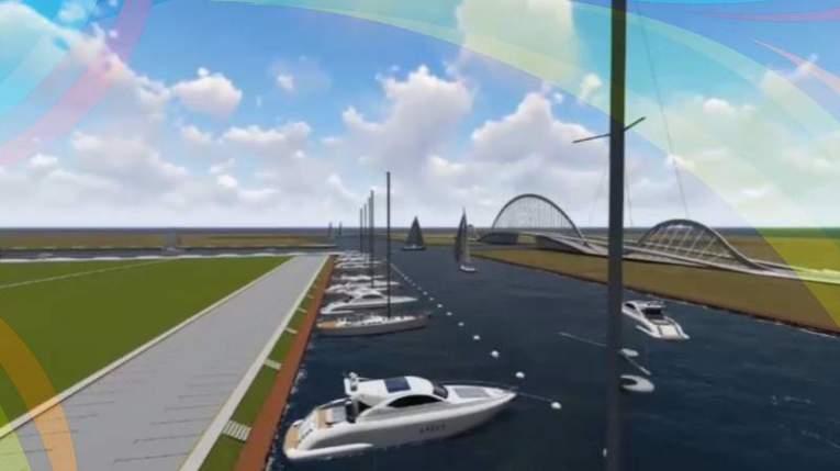 El proyecto de la marina, que formará parte del complejo turístico Barcelona Caribe