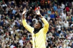 GRA366. LONDRES, 13/08/2017.- El jamaicano Usain Bolt da una vuelta de despedida en el estadio Olímpico de Londres donde se han disputado los Mundiales de atletismo. EFE/Lavandeira jr