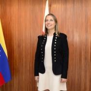 La encargada de Negocios de la Embajada de Polonia en Caracas, Milena Lukasiewicz, presentó la agenda de actividades de la delegación para el año 2018/ Foto: Alfonso López