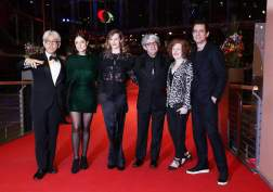 (L-R) Jury members: Japanese musician, composer Ryuichi Sakamoto, US producer Adele Romanski, Belgian actress Cecile de France, Spanish director Chema Prado, US film critic Stephanie Zacharek and German director and president of the jury Tom Tykwer arrive for the Closing and Awards Ceremony of the 68th annual Berlin International Film Festival (Berlinale), in Berlin, Germany, 24 February 2018. The Berlinale runs from 15 to 25 February. (Cine, Alemania, Francia, Japón) EFE