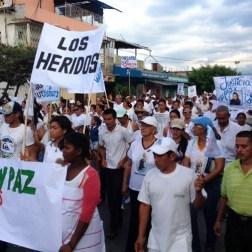 El pueblo de Arapuey, al norte del estado Mérida, exigieron justicia por sus familiares muertos y heridos en manifestaciones por comida 1