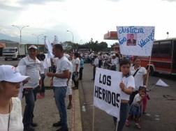 El pueblo de Arapuey, al norte del estado Mérida, exigieron justicia por sus familiares muertos y heridos en manifestaciones por comida 11