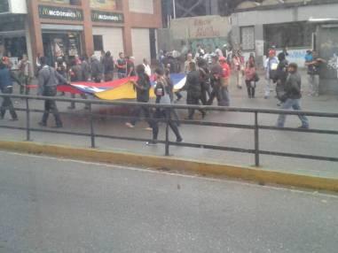 Colectivos marcharon por el centro de Caracas/Foto: Dana Rivera - Analitica.com
