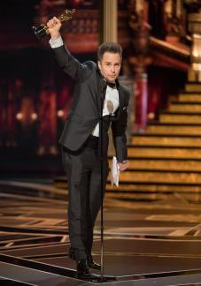 Sam Rockwell en los Premios Óscar