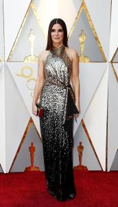 Sandra Bullock en su paso por la alfombra roja de los Premios Óscar
