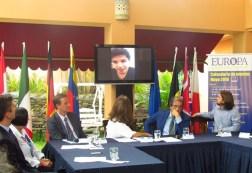 El solista por parte del Reino Unido, Jamal Aliyev, no pudo asistir a la presentación a la prensa, pero envió un mensaje a través de un video que hizo llegar el British Council/ Foto: Albermary Aponte