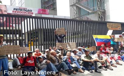 jubilados de Pdvsa protestan por falta d epagos