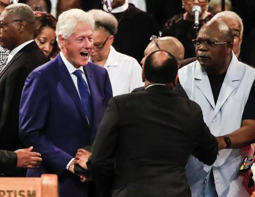 Bill Clinton se despide de Aretha Franklin