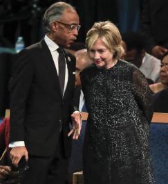 Hillary Clinton se despide de Aretha Franklin