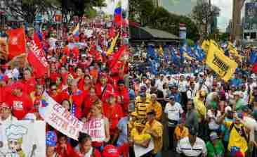 marchas oposicion y oficialismo
