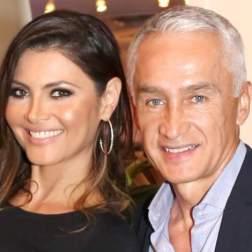 La animadora y su pareja actual, el periodista chileno Jorge Ramos