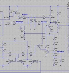 t911 envelope generator schematic  [ 1461 x 736 Pixel ]