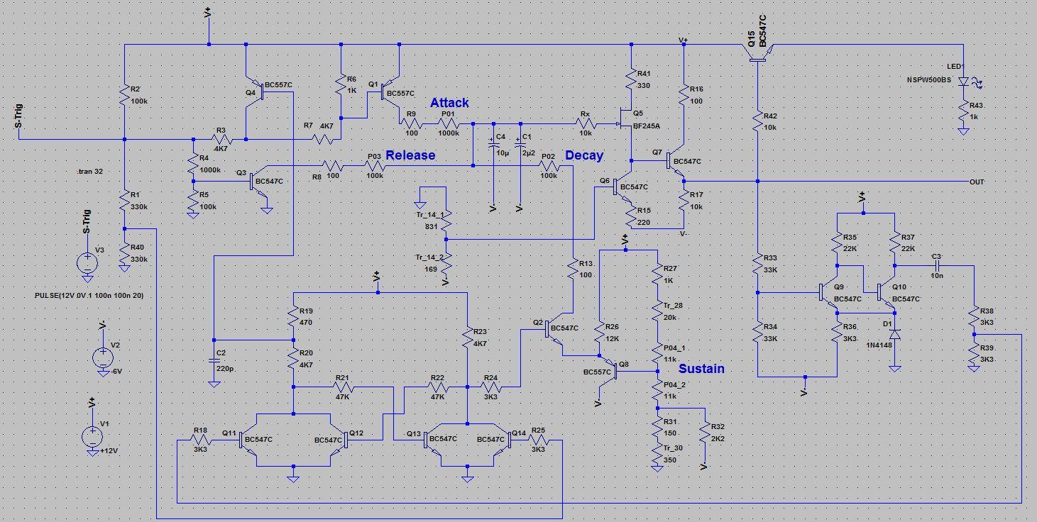 hight resolution of  t911 envelope generator schematic