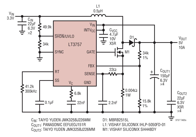 medium resolution of 3 3v input 5v 10a output boost converter