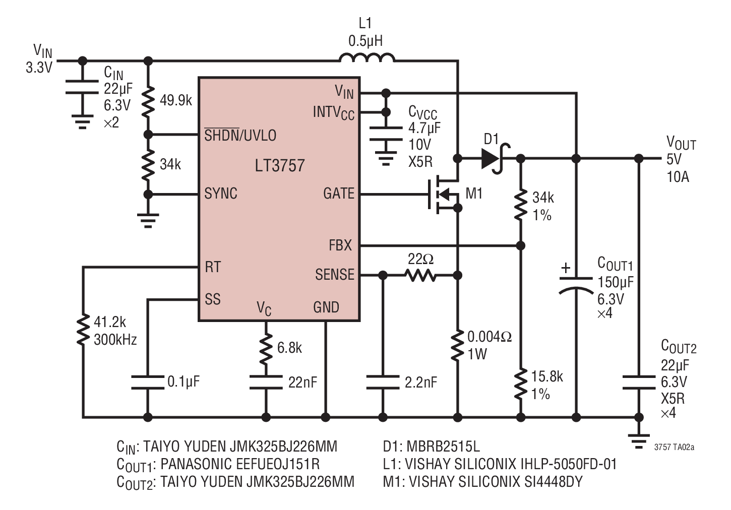 small resolution of 3 3v input 5v 10a output boost converter