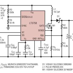 12vdc To 12vac Converter Circuit Diagram 7 Way Trailer Plug Wiring Gmc Lt3758 10v 40v Input 48v 1a Output Boost