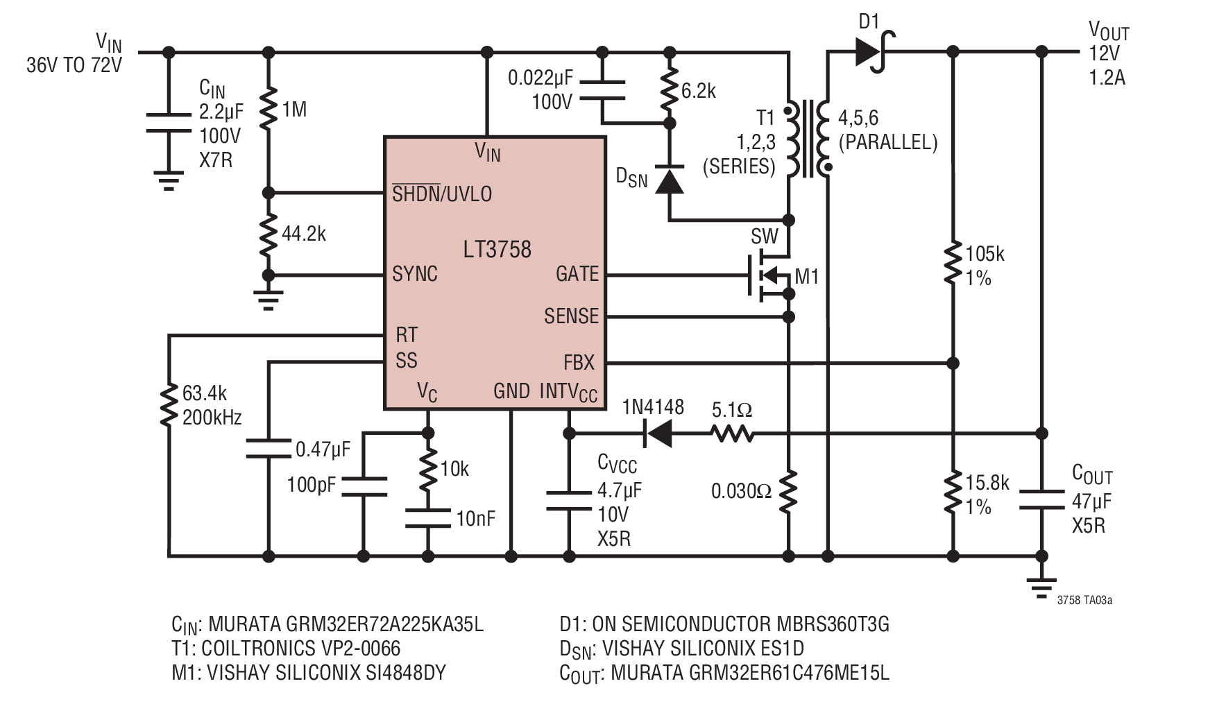 hight resolution of 12v output nonisolated flyback power supply