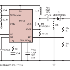 12vdc To 12vac Converter Circuit Diagram Briggs And Stratton Lawn Mower Parts Lt3758 8v 72v Input 12v Output Sepic