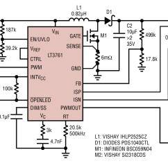 Led Dimming Driver Wiring Diagram Keystone Rv Lt3761 Boost For 30khz Pwm Circuit