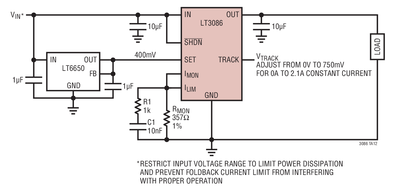 small resolution of adjustable voltage controlled current source
