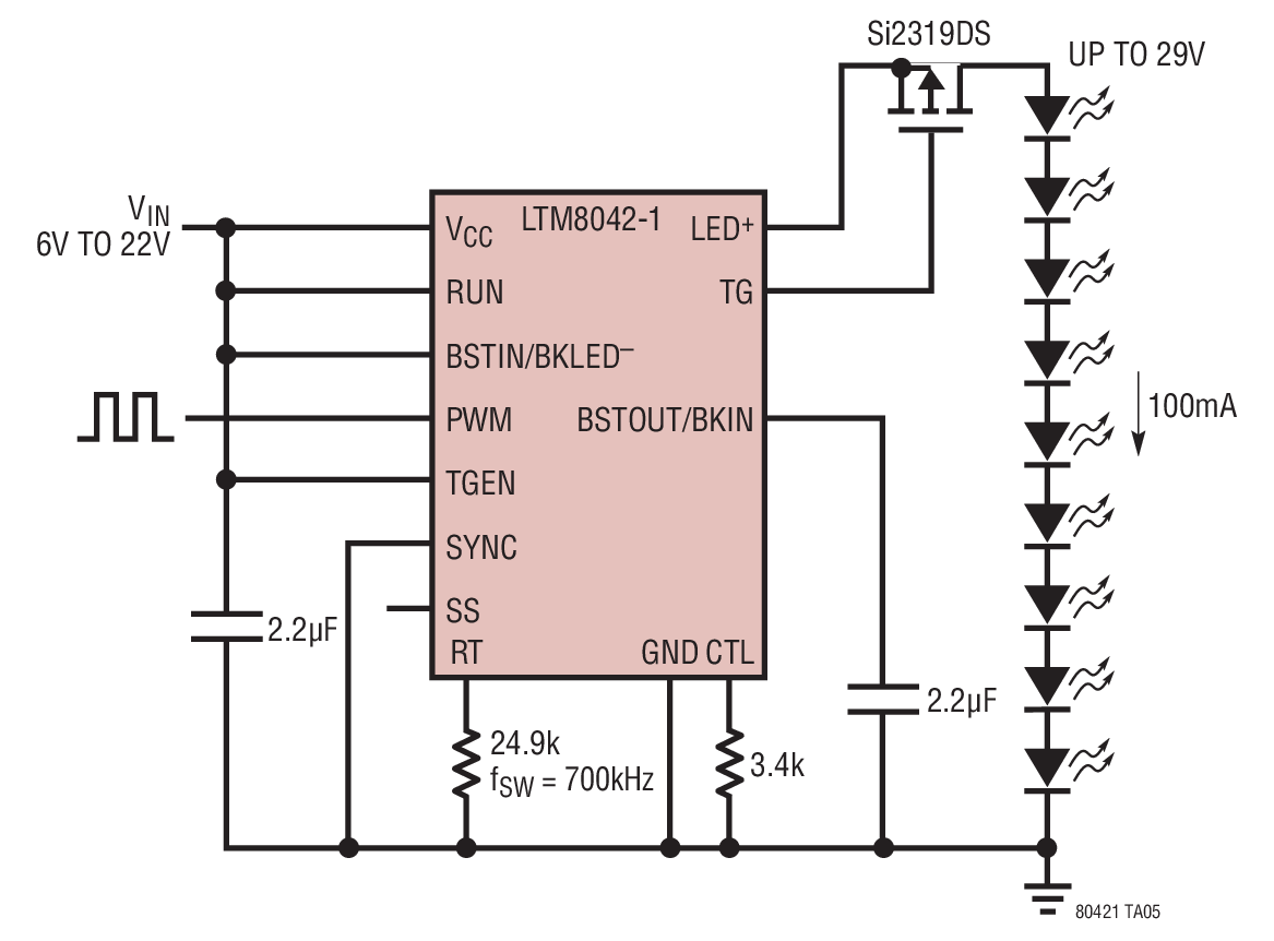 hight resolution of boost operation driving 9 white leds at 100ma