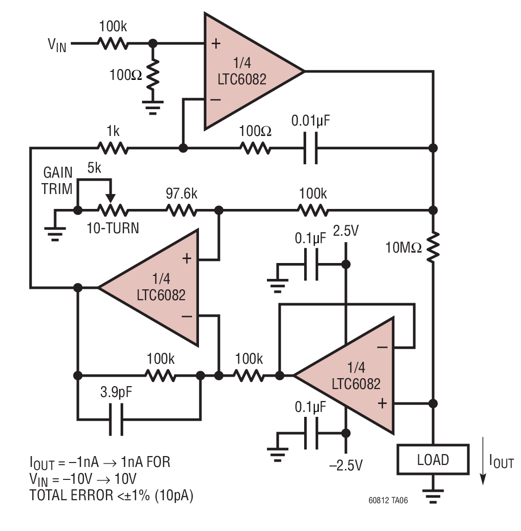 hight resolution of precision nanoamp bidirectional current source