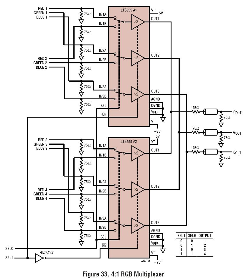 img src https www analog com media analog en circuit collections images ltc 165 circuit 1 jpg la en w 435 alt 4 1 rgb multiplexer  [ 900 x 1033 Pixel ]