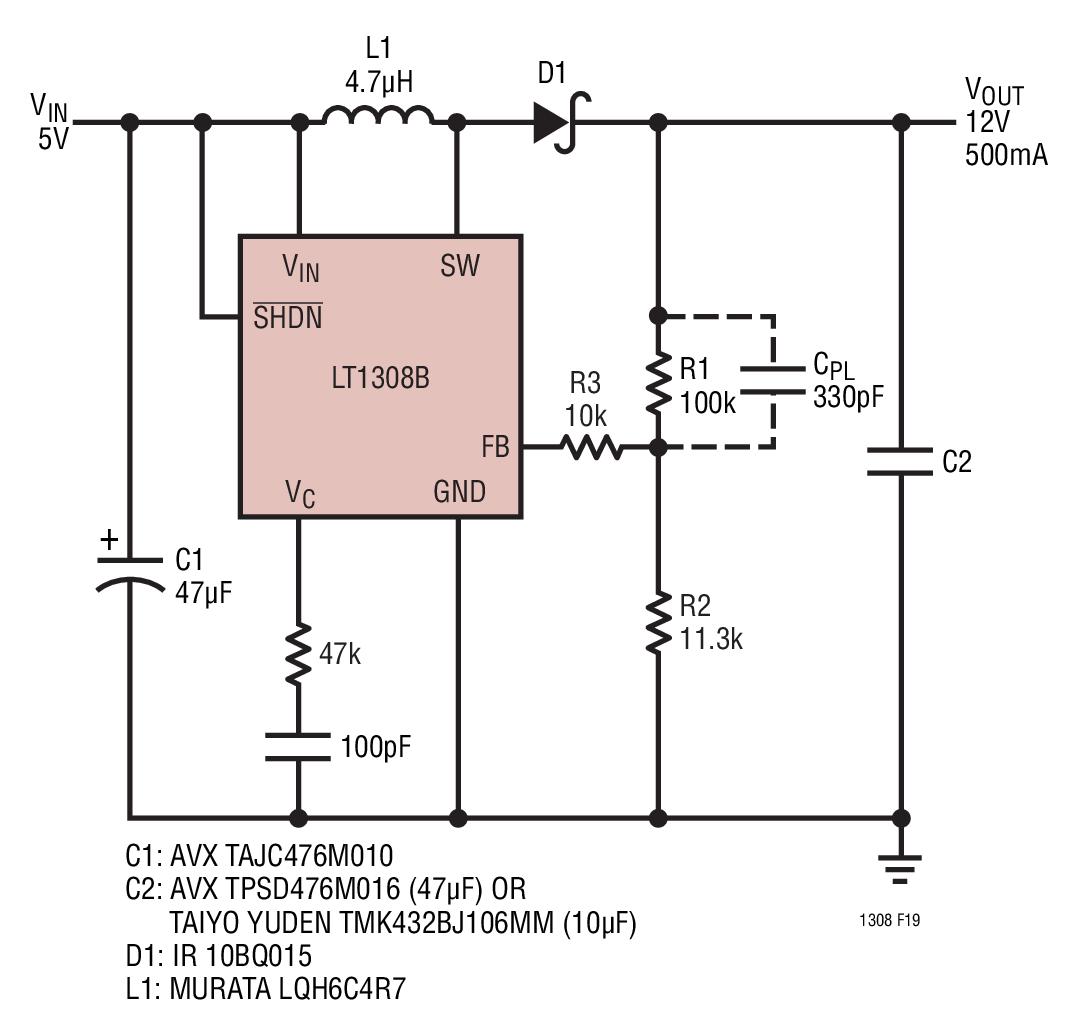12v dc to 9v converter circuit diagram how read automotive wiring diagrams symbols lt1308a 5v boost collection