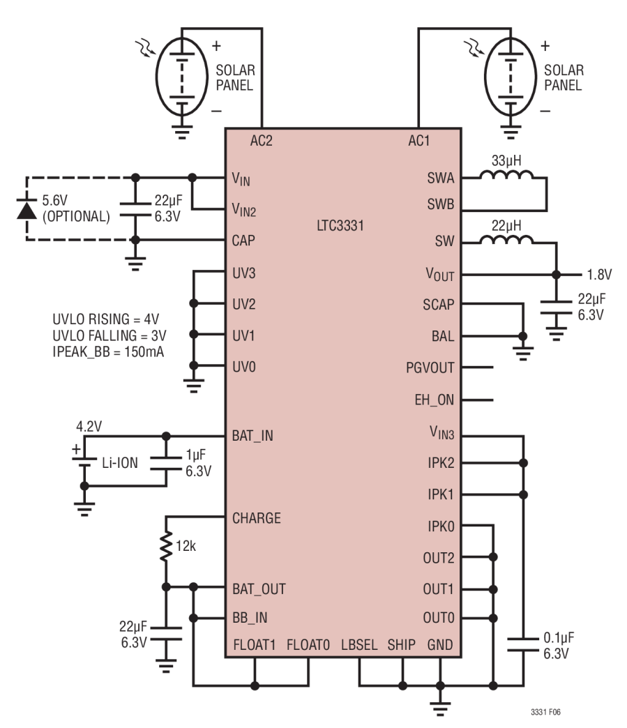 the ltc3331 integrates a high voltage energy harvesting power supply plus a buck boost dc dc powered from a rechargeable battery to create a single output  [ 900 x 1044 Pixel ]