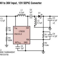 12v Dc To 9v Converter Circuit Diagram 95 Honda Civic Wiring Lt8330 4v 36v Input Sepic