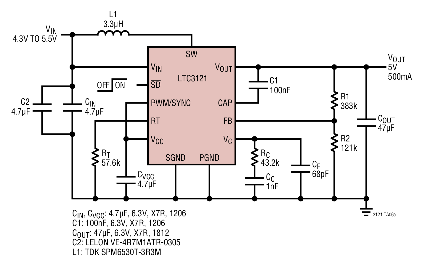 medium resolution of usb battery powered synchronous boost converter 4 3v to 5v 500ma