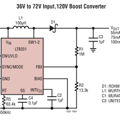 Circuit Diagram Of Buck Boost Converter Bmw E39 Wiring Lt8331 36v To 72v Input 120v