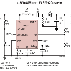 Circuit Diagram Of Buck Boost Converter 2004 Ford Expedition Radio Wiring Lt8331 4 5v To 80v Input Sepic