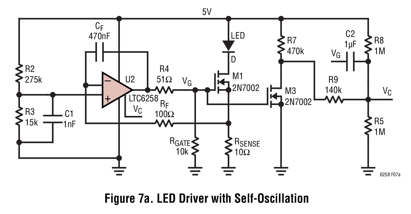hight resolution of led driver with self oscillation