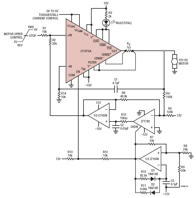 simple bidirectional dc motor speed controller without a tachometer [ 900 x 909 Pixel ]