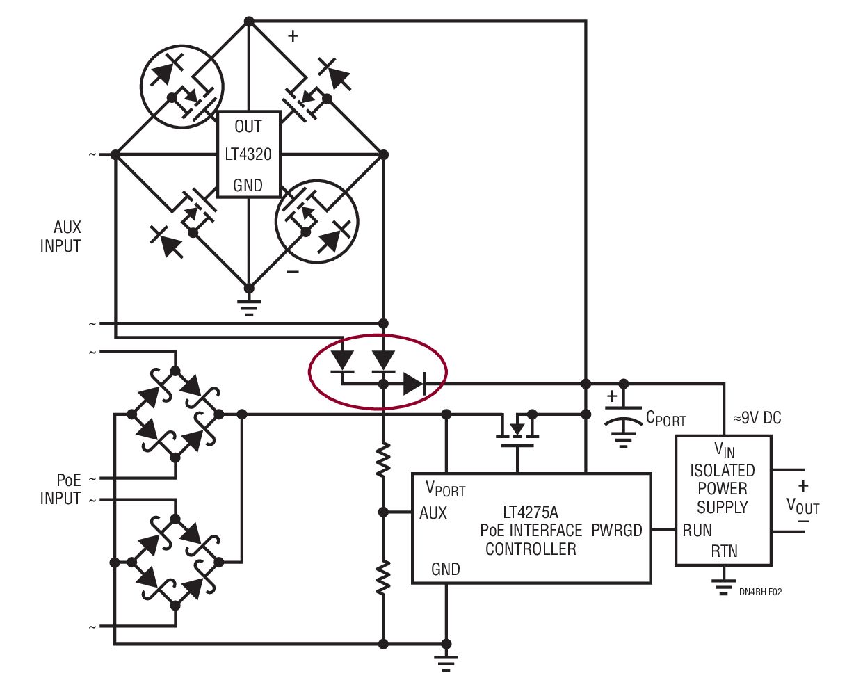 medium resolution of improved power architecture with no diode drops in power path