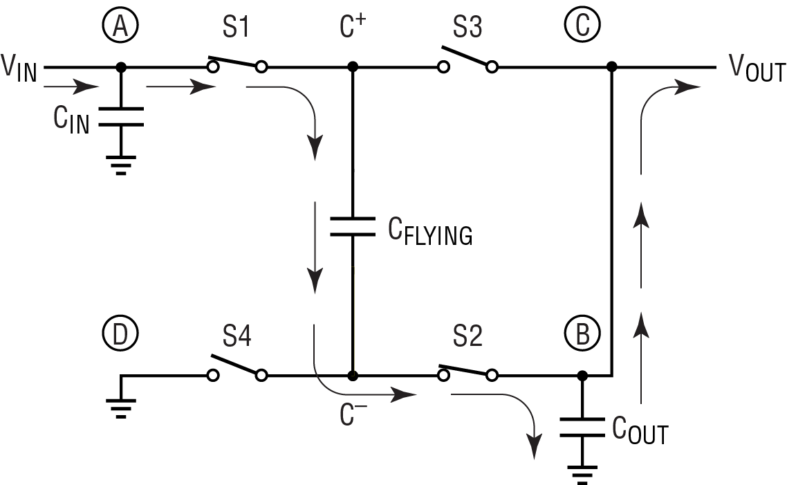 simple integrated circuit auto electrical wiring diagram clever circuit improves efficiency of charge pump plus linear [ 1138 x 701 Pixel ]