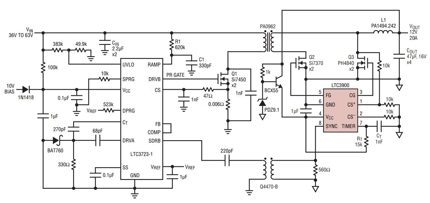 efficient and reliable drive for synchronous mosfet rectifiers com circuitdiagram basiccircuit programmableinverterrectiferhtml source circuit diagram  [ 1412 x 669 Pixel ]