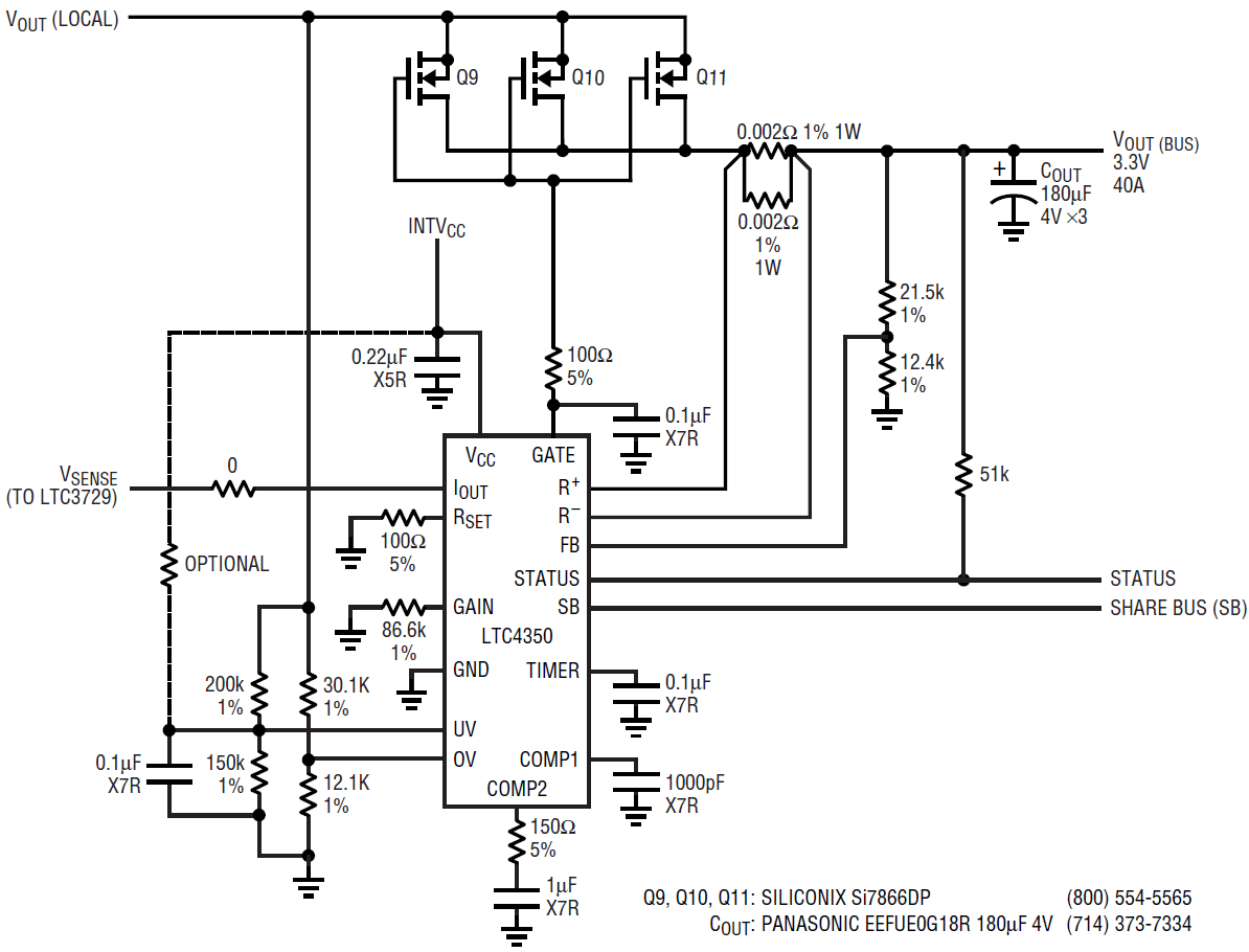 hight resolution of low voltage high current dc dc power supply with load sharing and circuits gt multiple output switching power supply circuit schematic